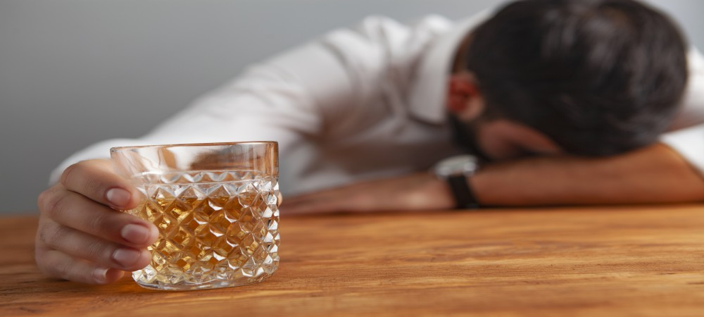 businessman drink alcohol addiction